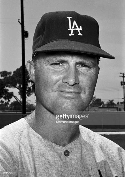 Outfielder Ron Fairly of the Los Angeles Dodgers poses for a portrait prior to a March 1965 Spring Training game against the Chicago White Sox at Ed...