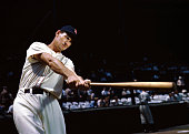 Outfielder ted williams of the boston red sox poses for an action a picture id53072154?s=170x170