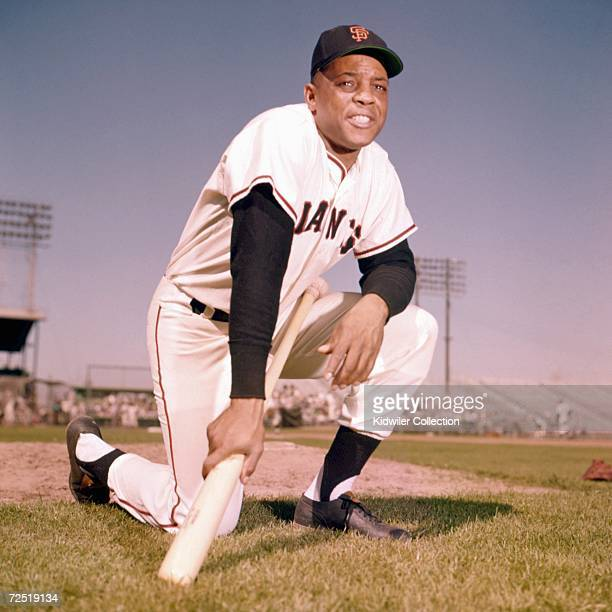 Outfielder Willie Mays of the San Francisco Giants poses for a portrait prior to a Spring Training game in March 1962 in Phoenix Arizona