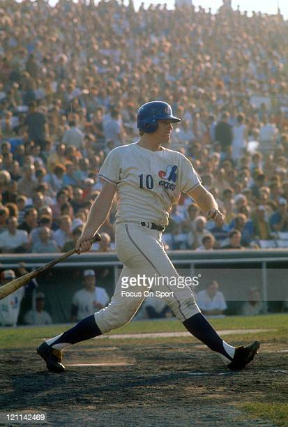 Outfielder/First baseman Rusty Staub of the Montreal Expos bats during an Major League Baseball game circa 1970 Staub played for the Expos from...