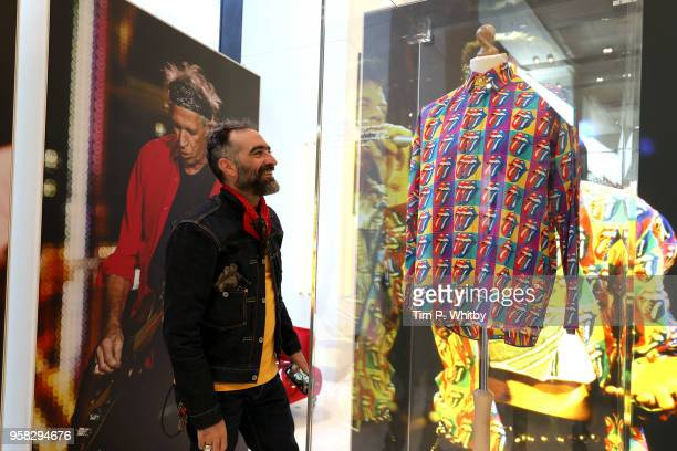 Outfits on display at a bespoke installation celebrating The Rolling Stones 'No Filter' UK tour in the Corner Shop at Selfridges on May 14 2018 in...