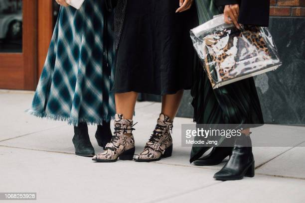 Outfit/shoe details during New York Fashion Week Spring/Summer 2019 on September 7 2018 in New York City