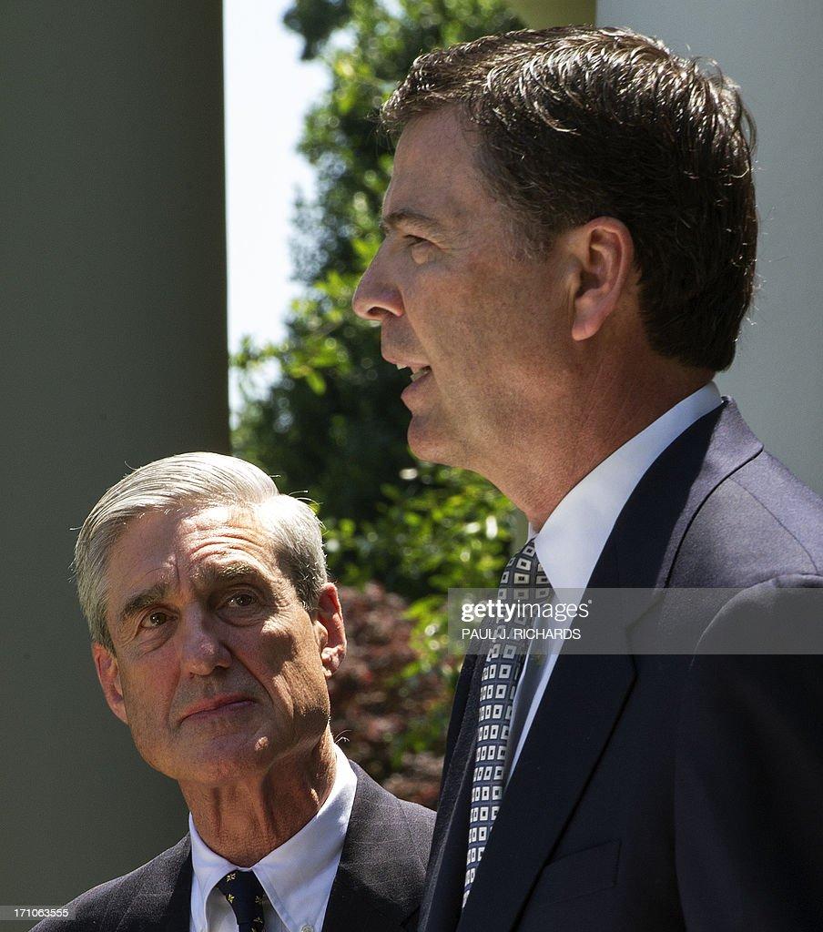 US-POLITICS-SECURITY-INTELLIGENCE-FBI-OBAMA-COMEY : News Photo