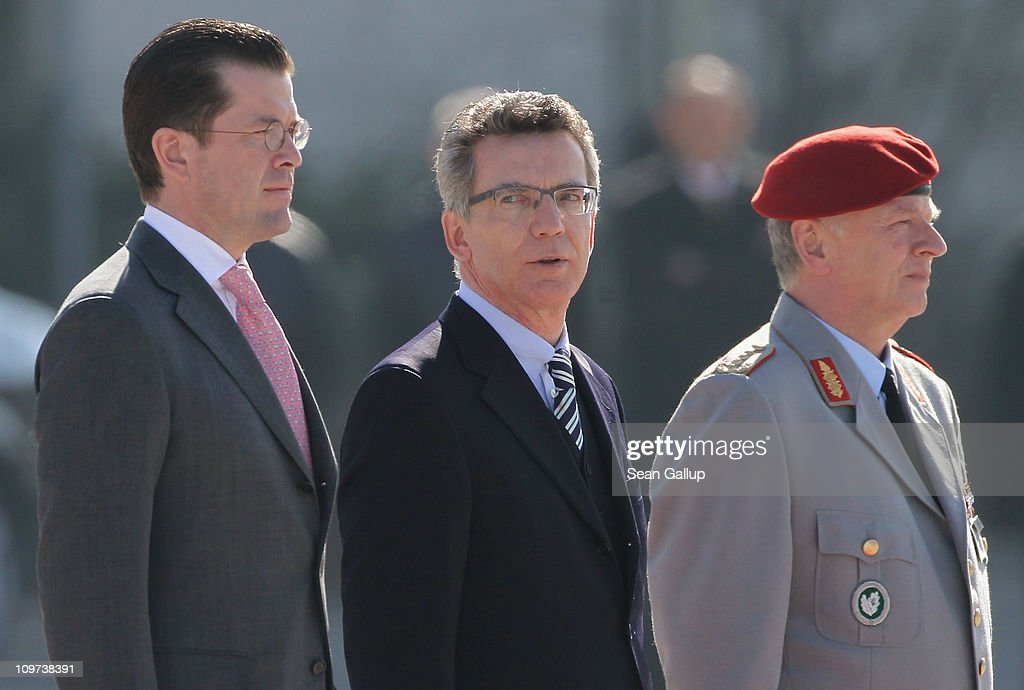 Wulff Appoints New Defense and Interior Ministers : News Photo