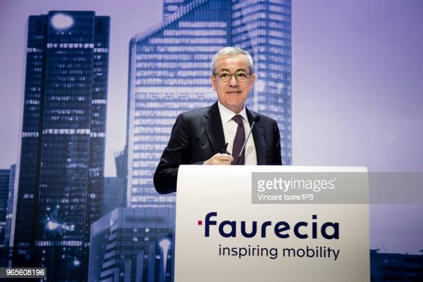Outgoing Governance Committee chief of Faurecia JeanPierre Clamadieu attends the French auto parts maker Faurecia general shareholders meeting on May...