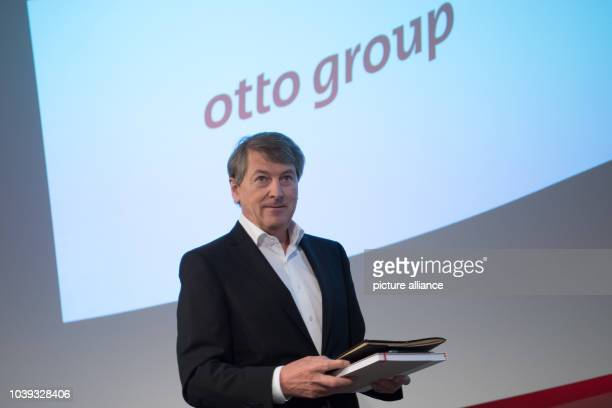 Outgoing Otto Group CEO HansOtto Schrader arrives for a results press conference of the German mail order and ecommerce company in Hamburg Germany 25...