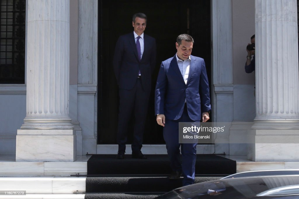 Greece's New Prime Minister Mitsotakis Is Sworn In : News Photo