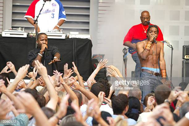 OutKast at 'The Tonight Show with Jay Leno' at the NBC Studios in Burbank Ca Friday July 19 2002 Photo by Kevin Winter/ImageDirect