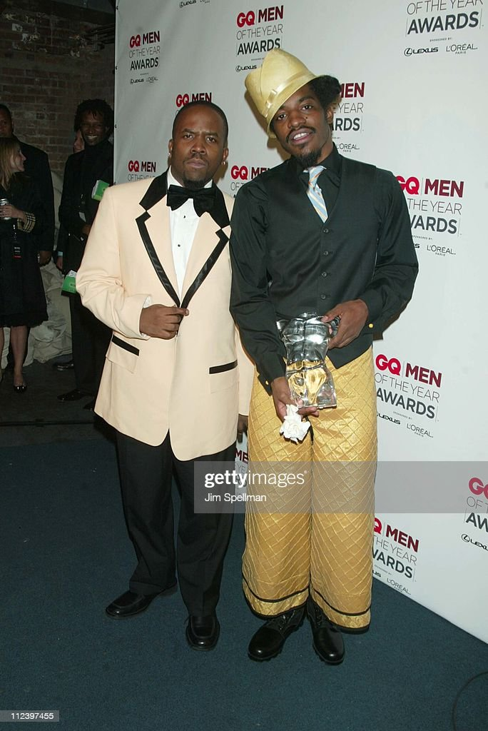 OutKast during 2002 GQ Men of the Year Awards - Press Room at Hammerstein Ballroom in New York City, New York, United States.