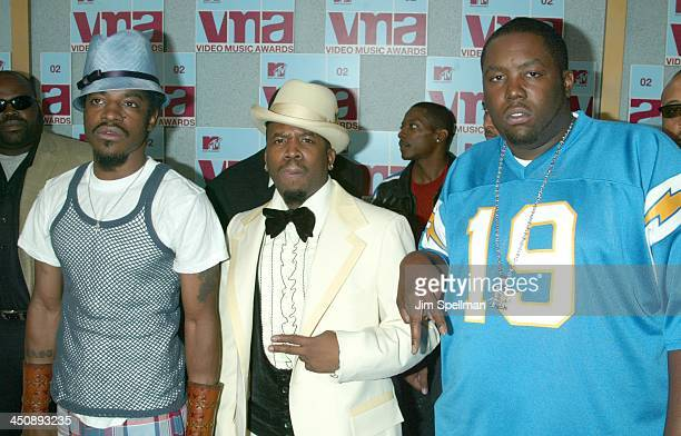 Outkast during 2002 MTV Video Music Awards Arrivals at Radio City Music Hall in New York City New York United States