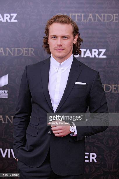 Outlander and STARZ Actor Sam Heughan attends the Outlander Season Two World Premiere at the American Museum of Natural History on April 4 2016 in...
