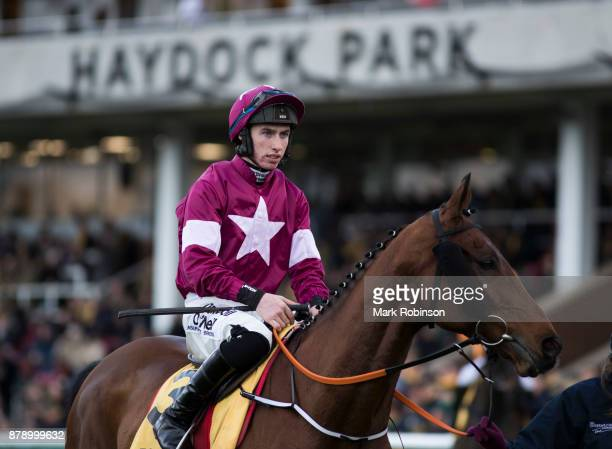Outlander ridden by Jack Kennedy in the Parade Ring before the Betfair Chase on November 25 2017 in Haydock England