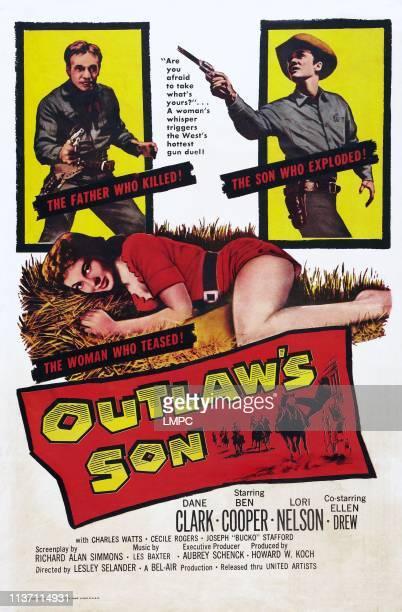 Outlaw's Son poster US poster art top from left Dane Clark Ben Cooper center Lori Nelson 1957