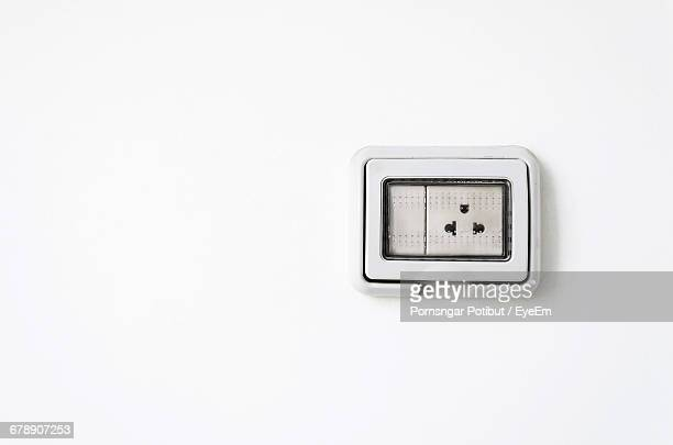 Outlet On White Wall At Home