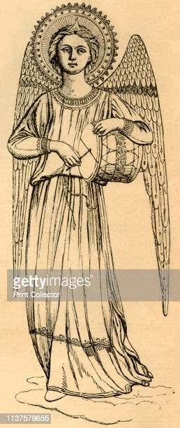 """Outline Copy of an Angel Painted by Fra Angelico', 1881. From """"St. Nicholas: Volume VIII. Part I., November 1880, to May 1881"""". [Scribner & Co., New..."""