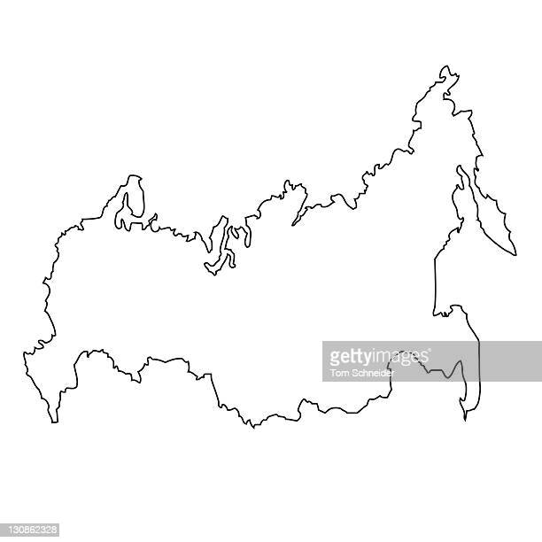 Outline, map of Russia