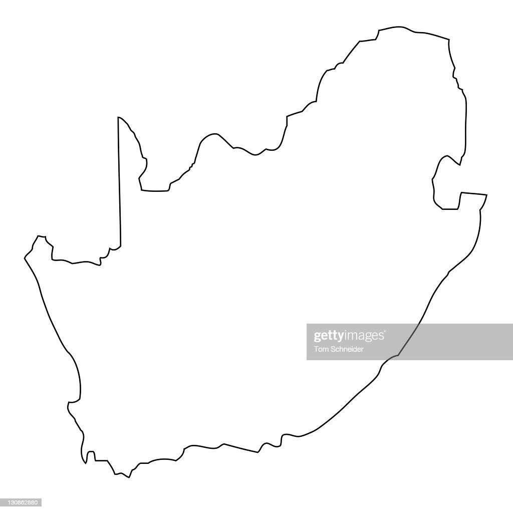 Outline Map Of South Africa Stock Photo Getty Images - Blank map of south africa