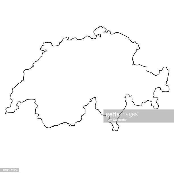 Outline, map of Switzerland
