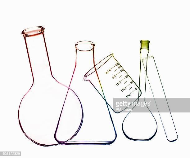 outline of chemistry glassware - balão artigo de vidro de laboratório imagens e fotografias de stock