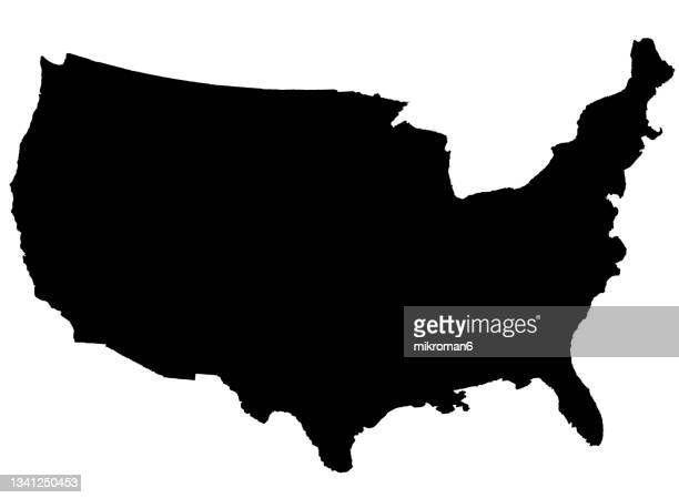 outline of the of united states - florida us state stock pictures, royalty-free photos & images