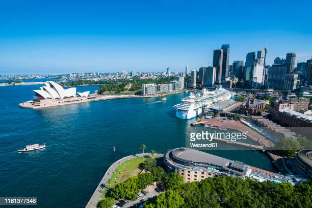 outlook over sydney with opera house, new south wales, australia - sydney harbor stock pictures, royalty-free photos & images