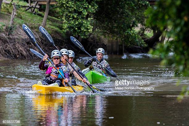 Outnorth Adventure Team from Sweden paddling down the Shoalhaven River during the Adventure Race World Championship on November 14 2016 in Ulladulla...