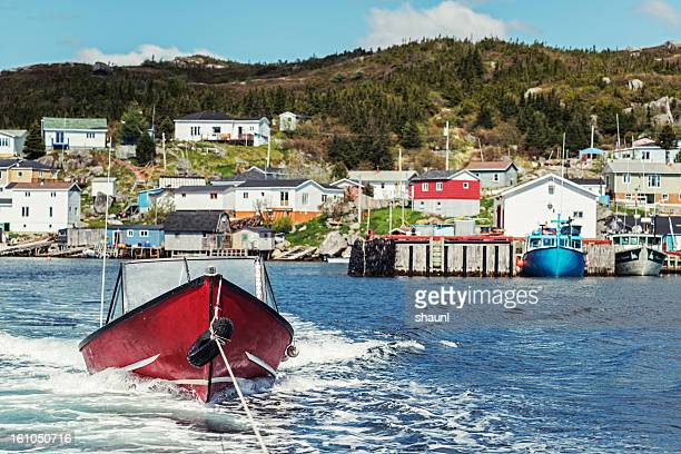 outport village - newfoundland and labrador stock pictures, royalty-free photos & images