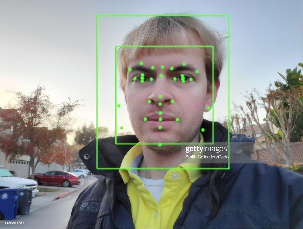 Facial Recognition AI : News Photo
