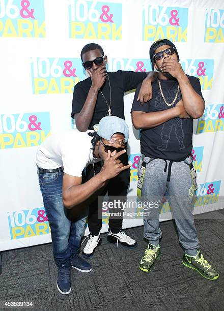 Outragous Papa Planes Bobby Shmurda and Rowdy Rebel visit 106 Park at BET studio on August 11 2014 in New York City