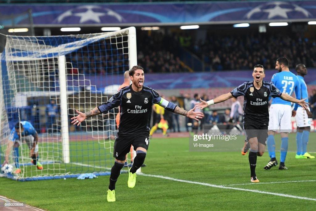 "UEFA Champions League""SSC Napoli v Real Madrid"" : News Photo"
