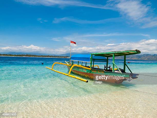 Outrigger boat on Gili Trawangan island, Indonesia