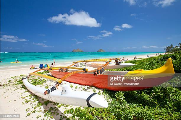 Outrigger canoe beach