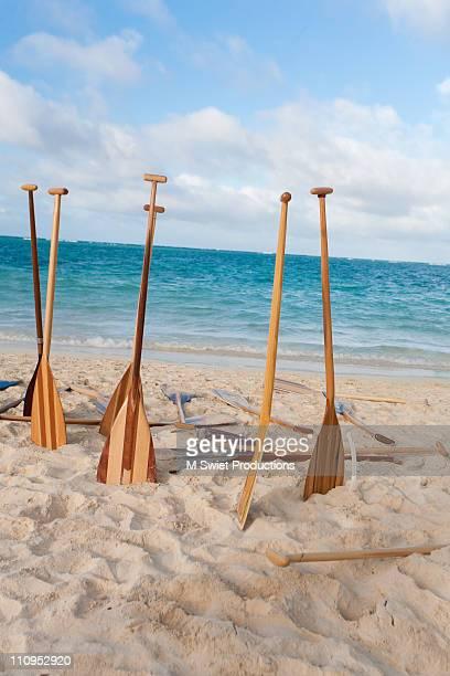 Outrigger canoe paddles hawaii