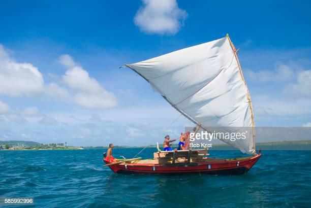Outrigger Canoe Sailing Micronesian Coast