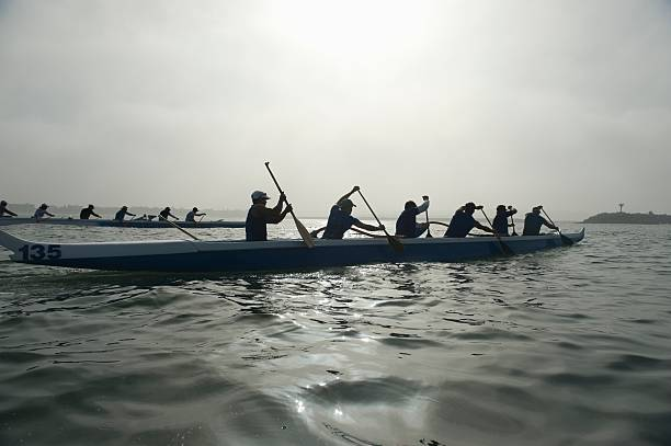 Outrigger Canoeing Team Compete Wall Art