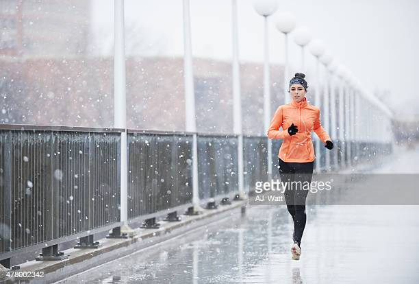 outrun bad weather - winter weather stock photos and pictures