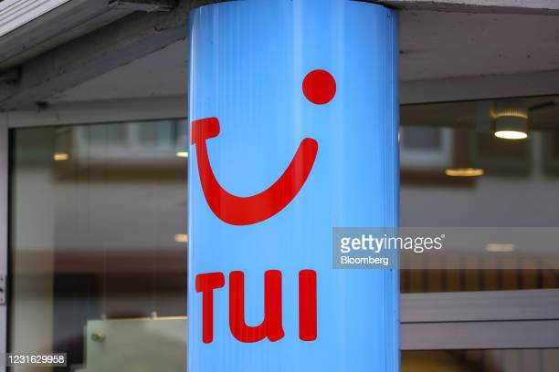 Outside a closed TUI travel center in Mainz, Germany, on Wednesday, March 10, 2021. Voters go to the polls on for state elections in...