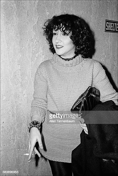 Outside a court room, Michelle Robinson waits outside during Sid Vicious' bail hearing on the Nancy Spungen murder charge, New York, New York,...
