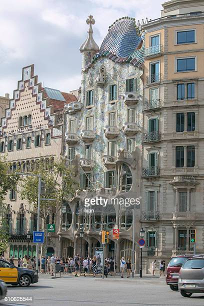 Outside Antoni Gaudi's Casa Batllo From the Shopping street Las Ramblas