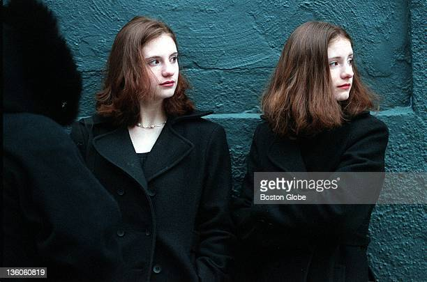 Outside Avalon in Boston sixteenyearold twins Jenna and Sarah Heusel of Westborough line up in the cold and keep an eye on the competition at the...