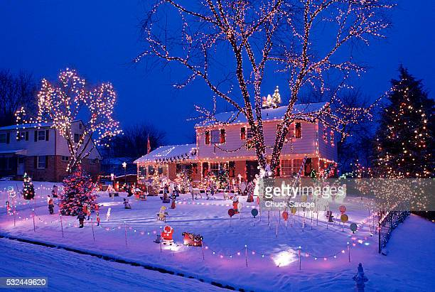 outside christmas ornaments - christmas decoration stock pictures, royalty-free photos & images