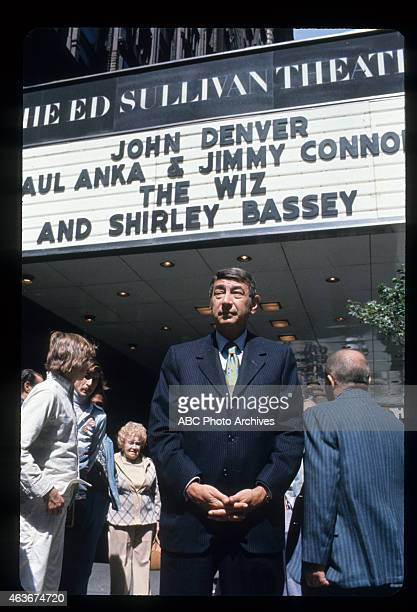 COSELL Outside Ed Sullivan Theater At Show Premiere Airdate September 20 1975 HOWARD COSELL