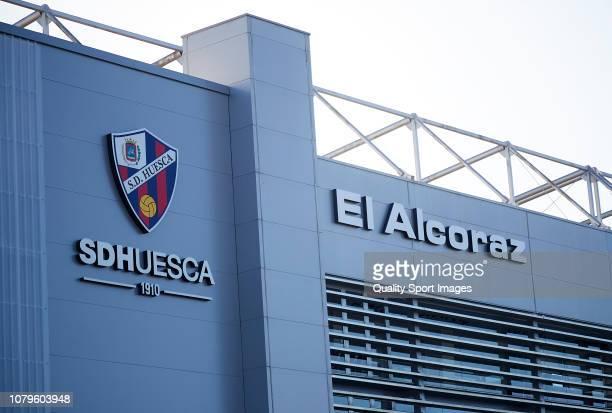 Outside Estadio El Alcoraz before the La Liga match between Sociedad Deportiva Huesca and Real Madrid at Estadio El Alcoraz on December 09 2018 in...
