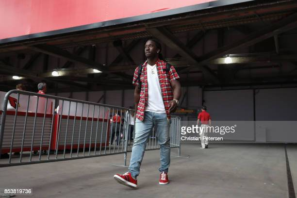 Outside linebacker Markus Golden of the Arizona Cardinals walks into the stadium prior to the NFL game against the Dallas Cowboys the University of...