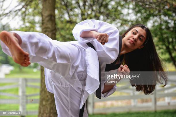 outside martial arts training - gerville stock pictures, royalty-free photos & images