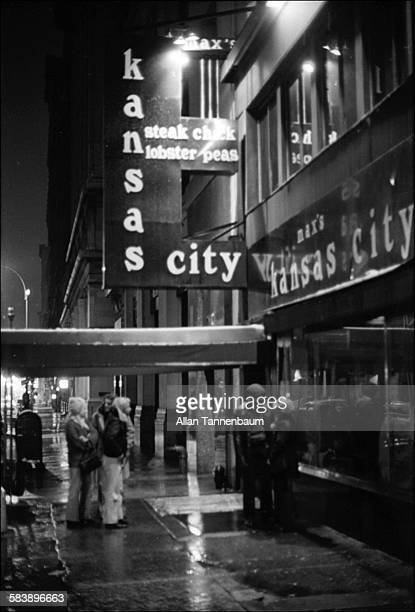 Outside Max's Kansas City New York New York March 20 1974