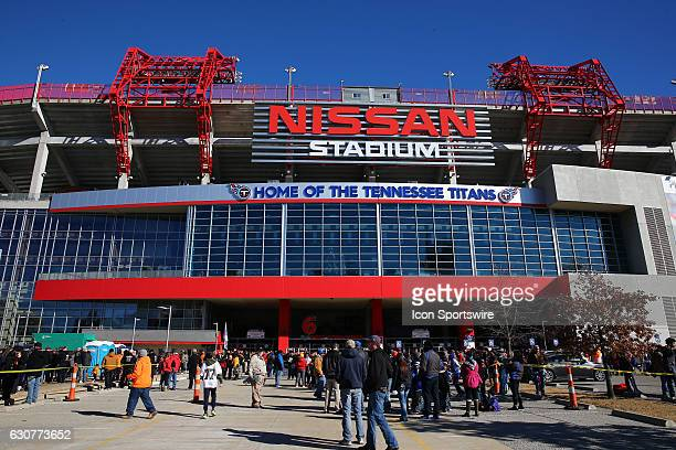 Outside Nissan Stadium before the Franklin American Mortgage Music City Bowl game between Tennessee and Nebraska on December 30 at Nissan Stadium in...