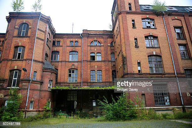 Outside of abandoned Factory in Zeitz Sachsen Anhalt Germany Chocolate Factoy Zetti was a famous candy brand in the GDR Founded in 1831 by Friedrich...