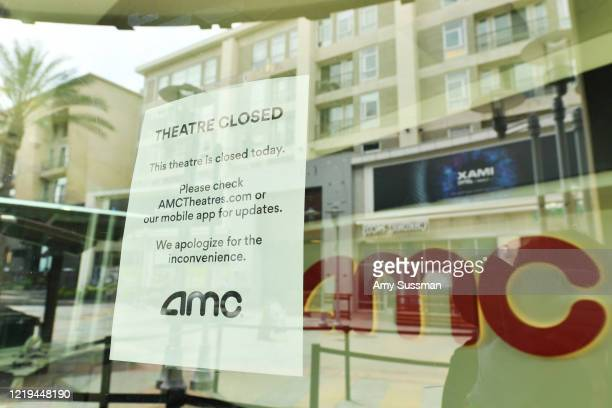 Outside of AMC Burbank 16 on April 17 2020 in Burbank CA Due to COVID19 AMC Theatres were forced to close all global locations in March