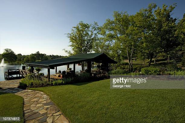 Outside of country singer Trace Adkins' home photographed for People Country on July 15 2010 in Brentwood Tennessee